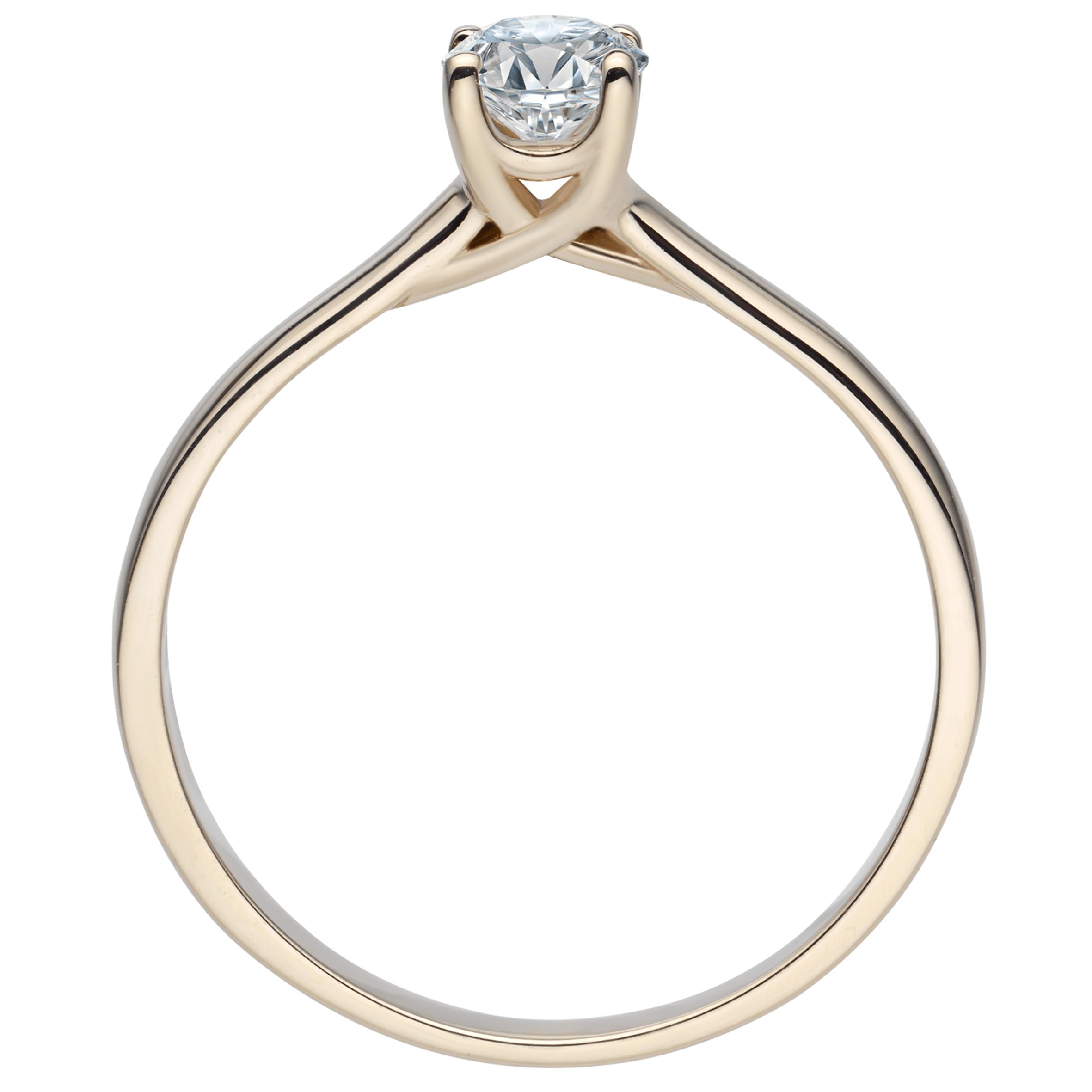 Sárga arany gyémántgyűrű